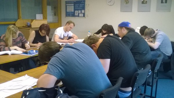 MA students taking the Magic in Antiquity module creating curse tablets